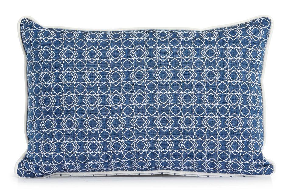 """Valley Blue 13"""" Indoor/outdoor Rectangular Accent Pillow"""