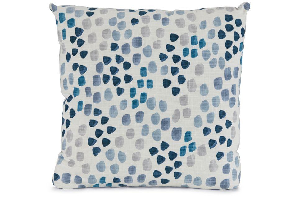 """Pfeiffer Blue Fabric 18"""" Accent Pillow,  (1)"""