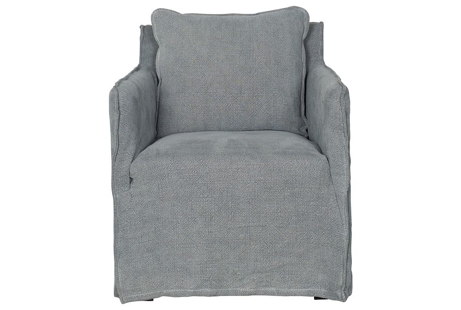 Pompey Pewter Fabric Accent Chair