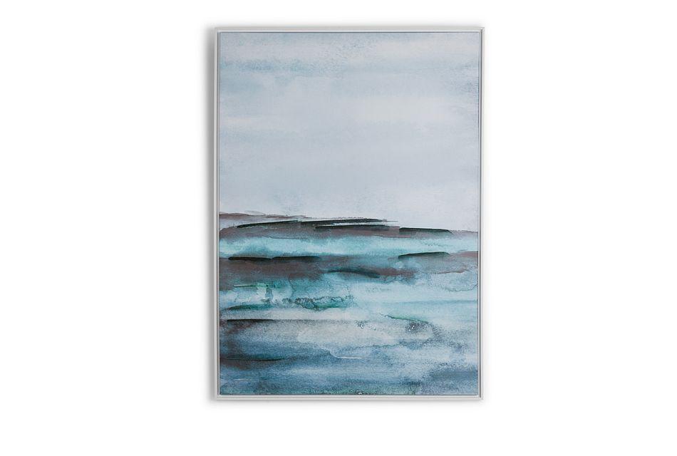 Devon Blue Framed Canvas Wall Art