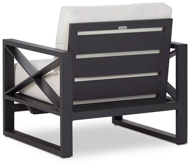 Linear Dark Gray White Rocking Chair (3)