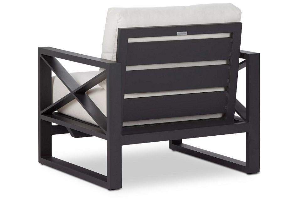 Linear Dark Gray White Rocking Chair