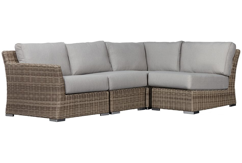 Raleigh Gray Left 4-piece Modular Sectional