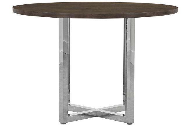 Amalfi Wood Round High Dining Table