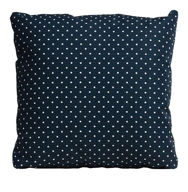 "Dots Blue 18"" Indoor/outdoor Accent Pillow (0)"
