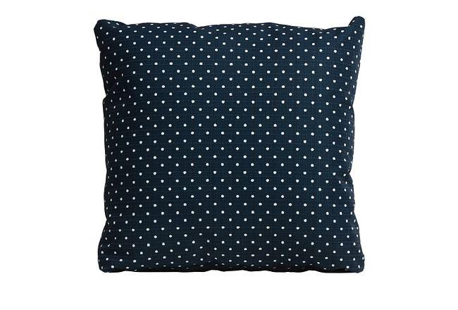 "Dots Blue 18"" Indoor/outdoor Accent Pillow"
