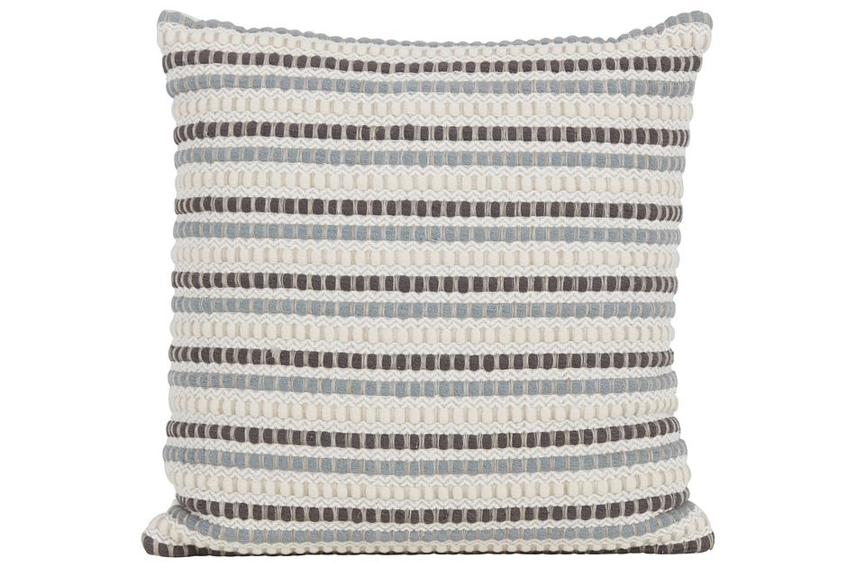 Shelby Beige Stripe Accent Pillow