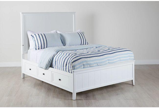 Cooper White Panel Storage Bed
