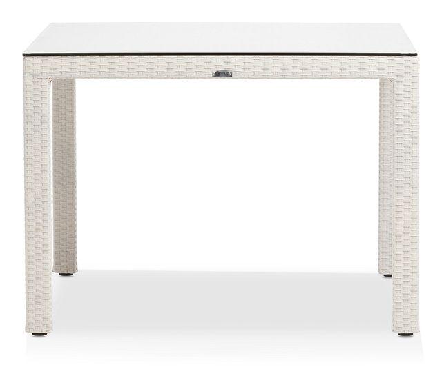 """Bahia White 40"""" Square Table (0)"""