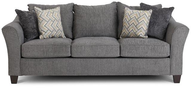 Maggie Dark Gray Fabric Sofa (1)