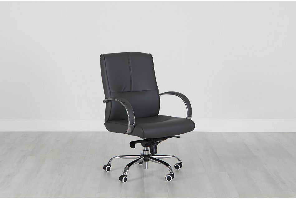 Greeley Gray Uph Desk Chair, %%bed_Size%% (0)