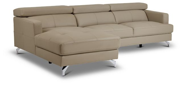 Marquez Taupe Micro Left Chaise Sectional (1)
