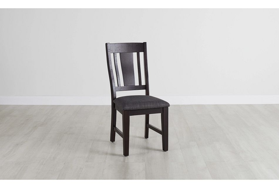 Cash Gray Upholstered Side Chair,  (0)