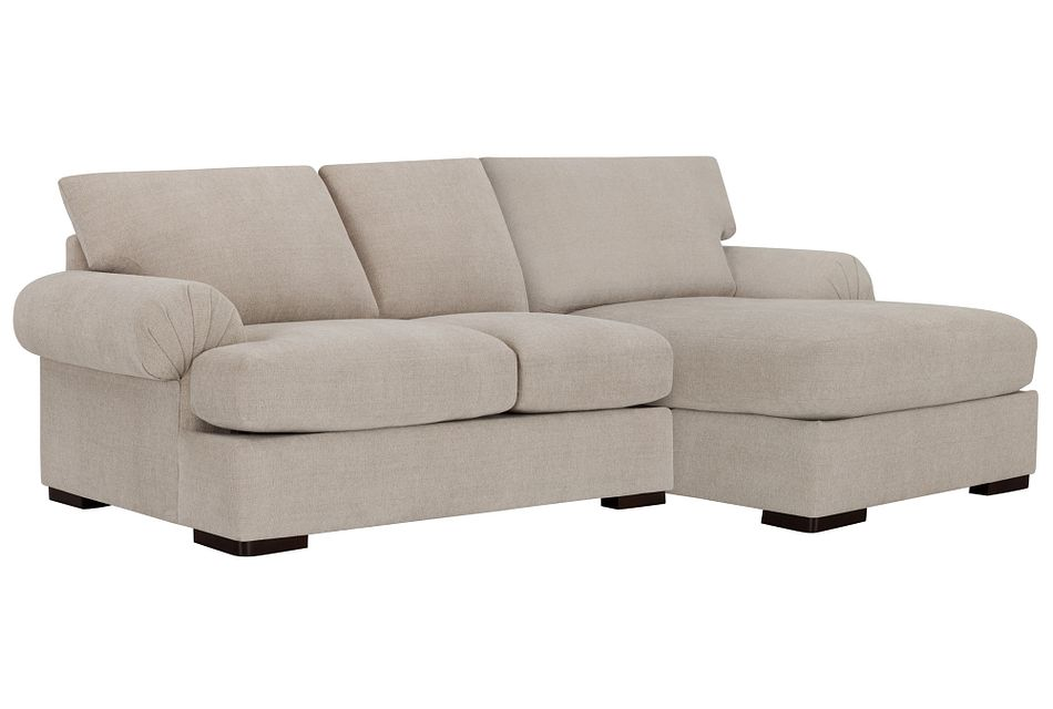 Belair Light Taupe  FABRIC Right Chaise Sectional