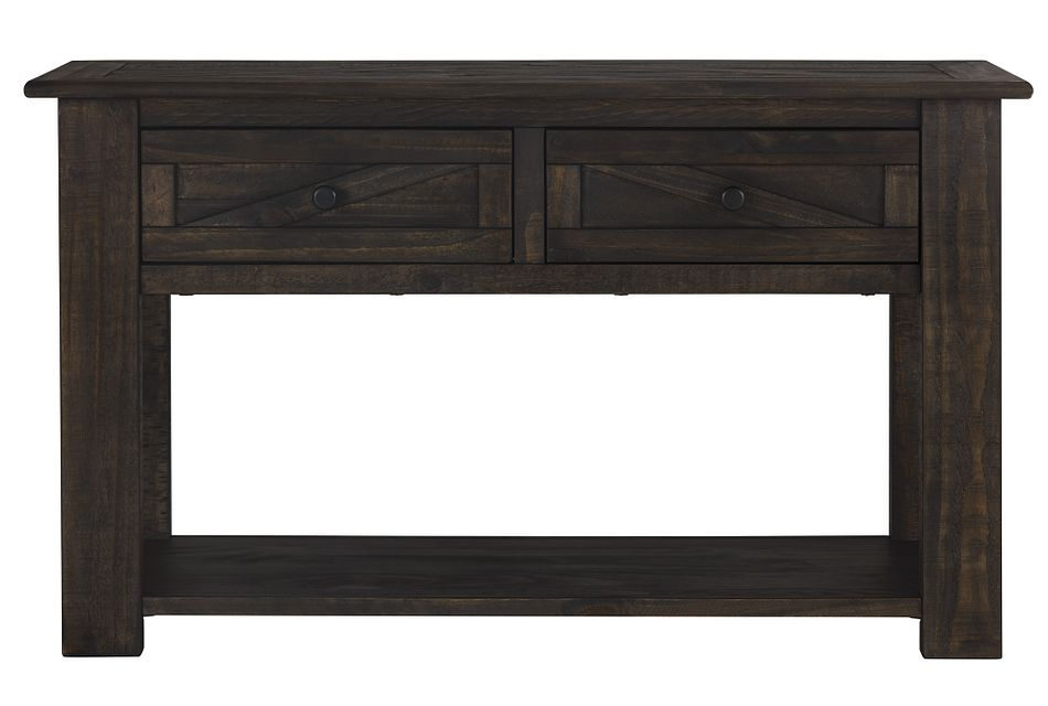Garrett Dark Tone Storage Sofa Table