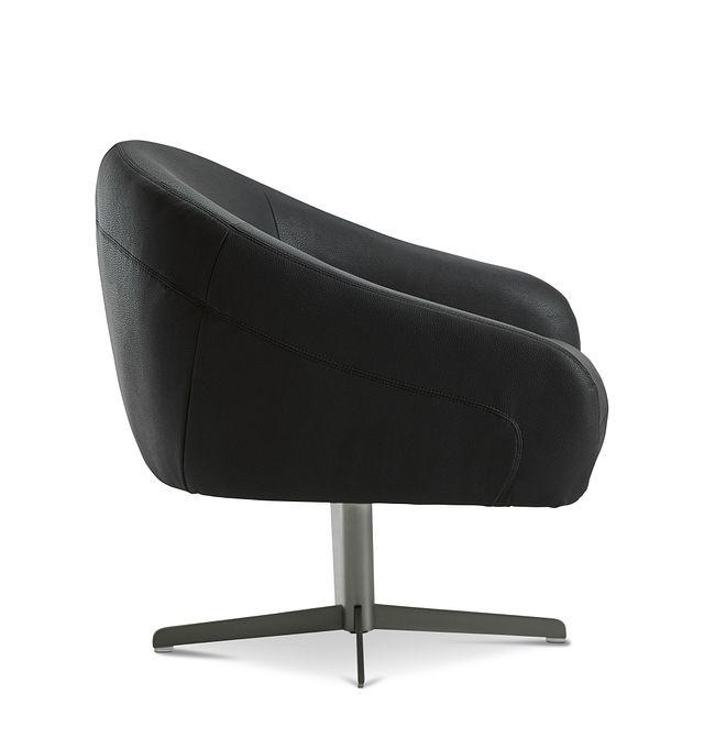 Frankie Black Swivel Accent Chair (2)