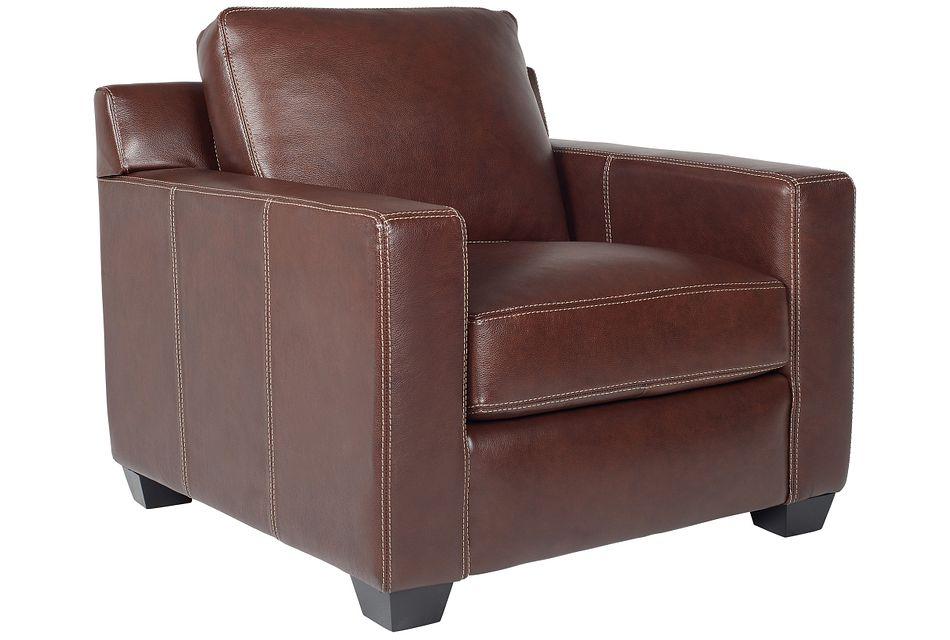Carson Medium Brown Leather Chair