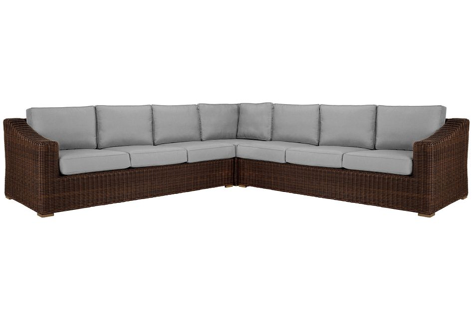 Canyon Dark Brown Gray Large Two-arm Sectional