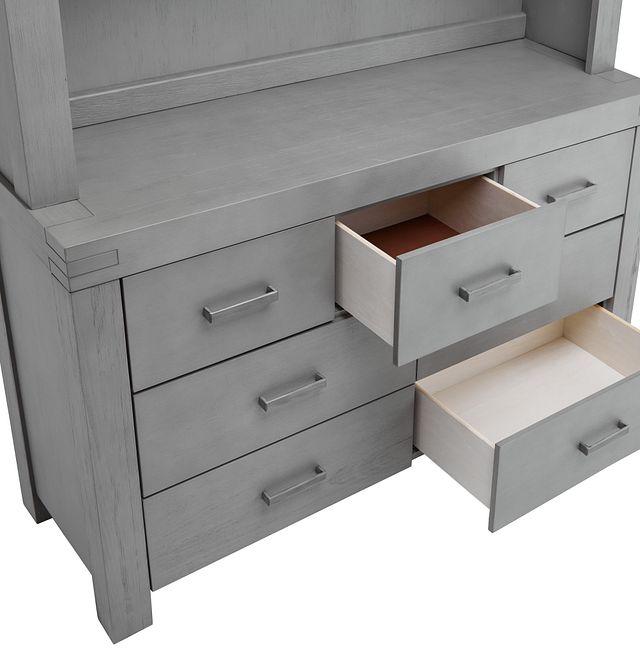 Piermont Gray Dresser & Hutch (1)