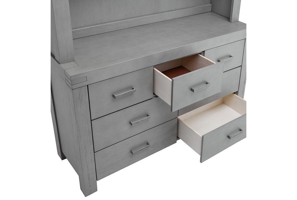 Piermont Gray Dresser & Hutch