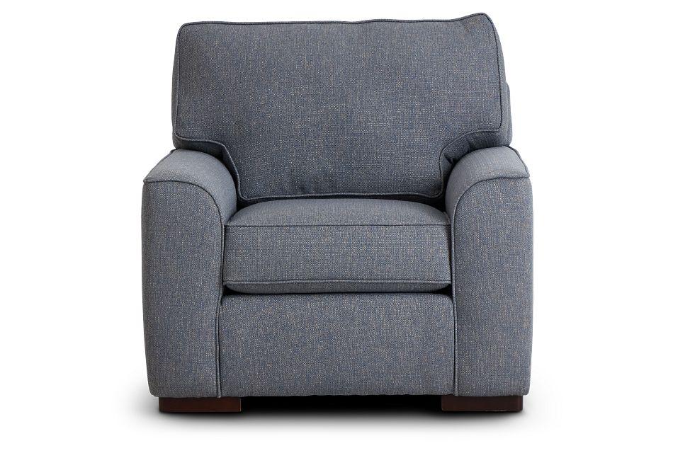 Austin Blue Fabric Chair,  (3)
