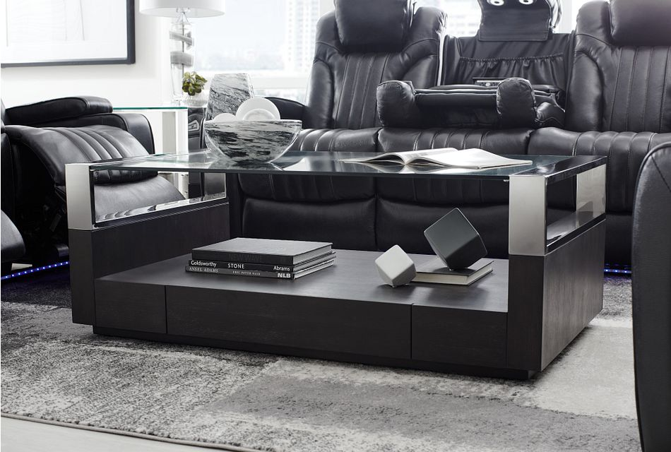 Remus Dark Tone Storage Rectangular Coffee Table