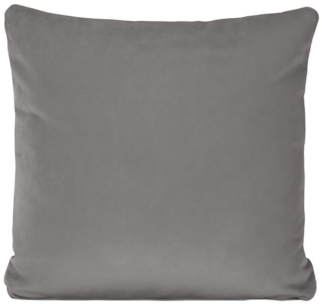 Royale Gray Fabric Square Accent Pillow (0)