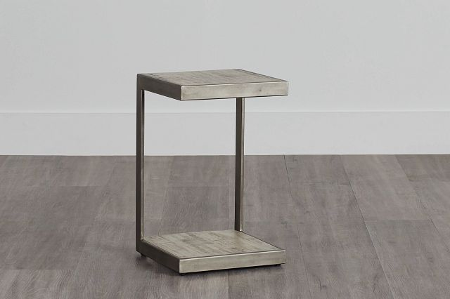 Amber Gray Wood Chairside Table (0)