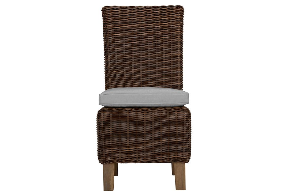 Canyon Dark Brown Gray Woven Side Chair