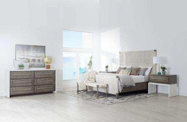 Palma Light Tone Woven Panel Bed (3)