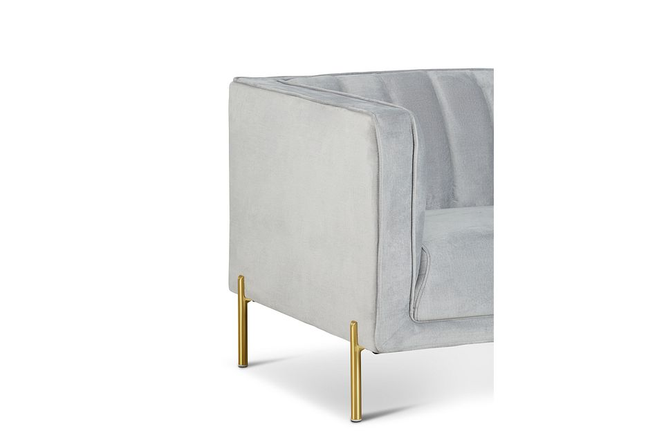 Bella Gray Velvet Chair