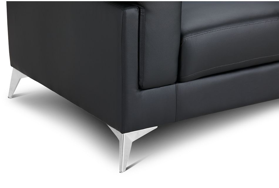 Gianna Black Micro Loveseat