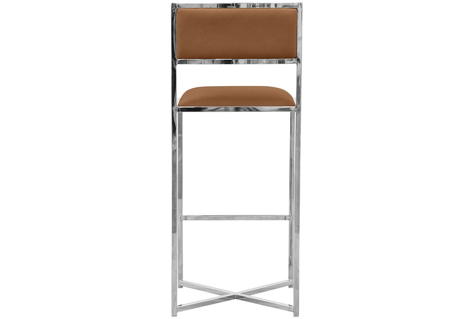 "Amalfi Brown Stnl Steel 30"" Barstool"