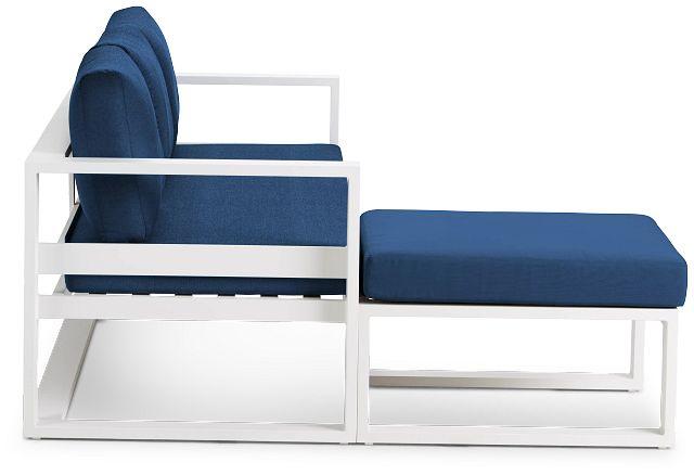 Lisbon Navy Aluminum Chaise Sectional (3)