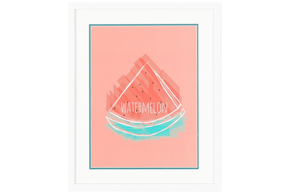 Watermelon Multicolored Framed Wall Art