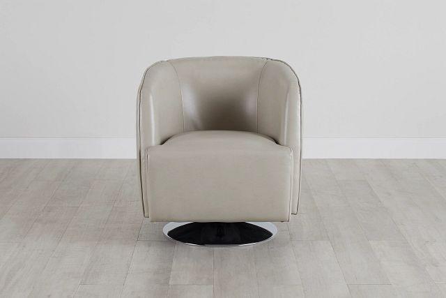 Alec Light Gray Micro Swivel Accent Chair (3)