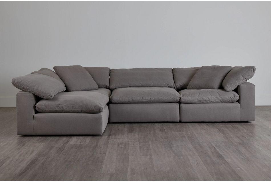 Nixon Light Gray Fabric 4-Piece Modular Sectional,  (0)