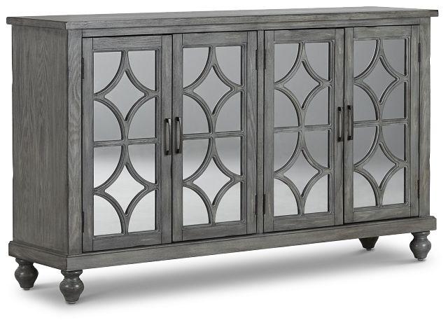 Ash Gray Four-door Cabinet (2)