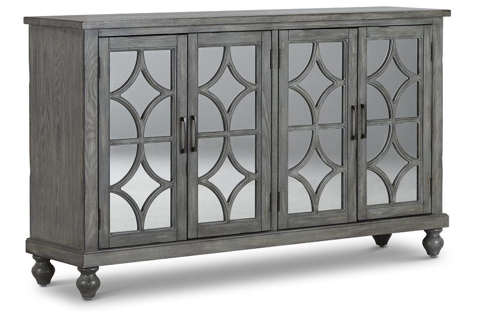 Ash Gray Four-door Cabinet
