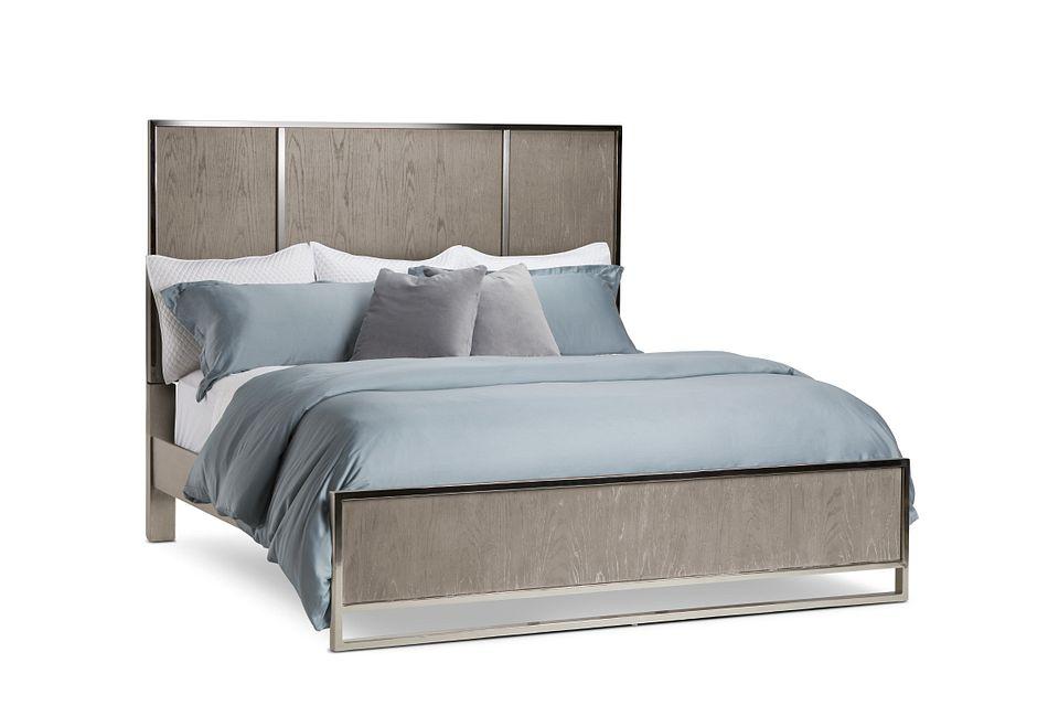 Tribeca Light Tone Panel Bed
