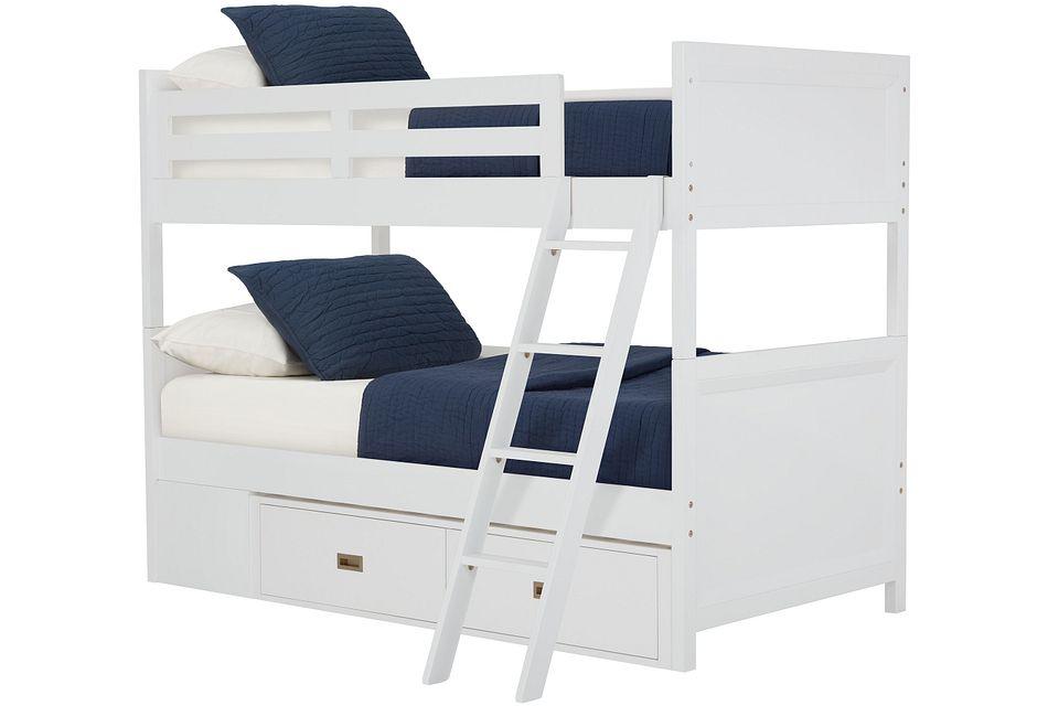 Ryder White Storage Bunk Bed