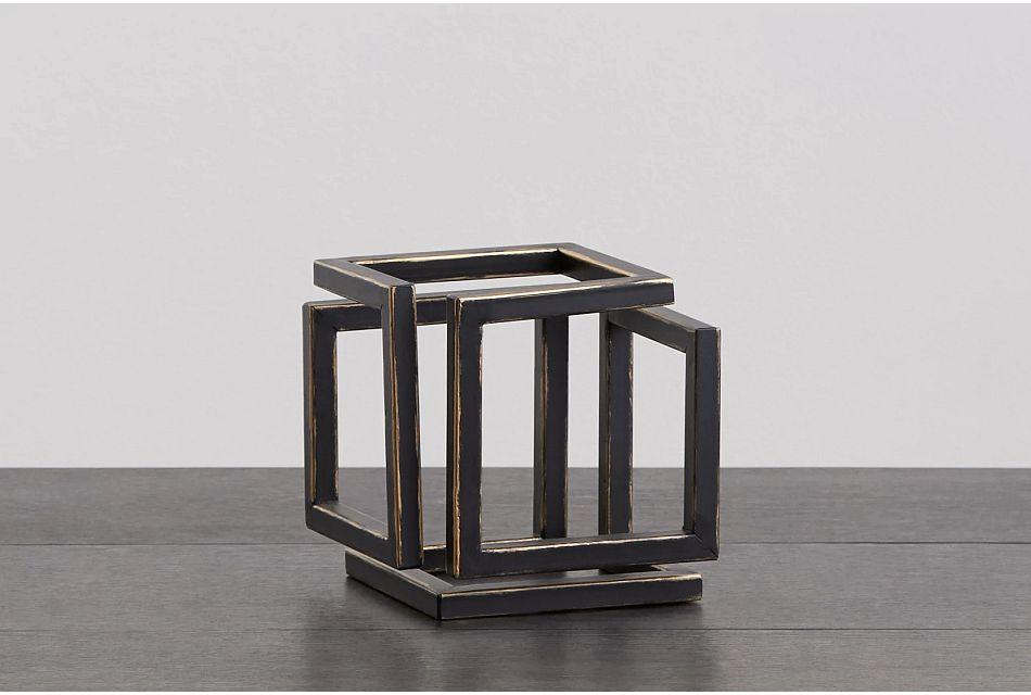 Cube Black Small Tabletop Accessory
