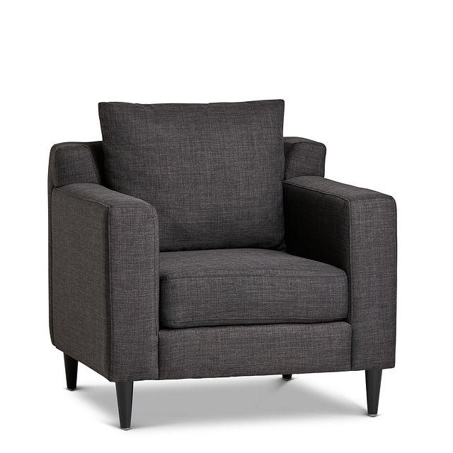 Novara Dark Gray Fabric Accent Chair (0)