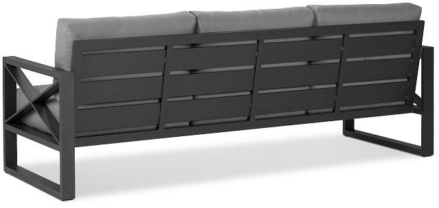 Linear Dark Gray Aluminum Sofa (3)
