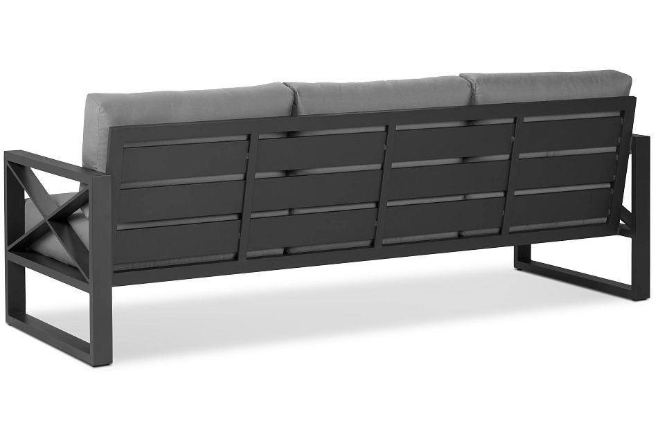 Linear Dark Gray Aluminum Sofa