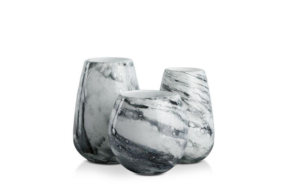 Briela Gray  Vase,  (2)