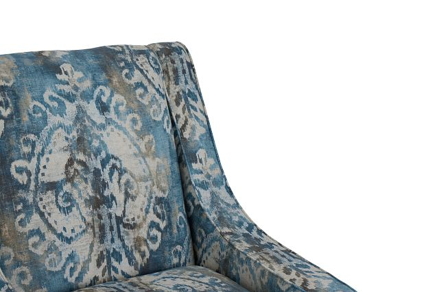Soledad Blue Fabric Accent Chair