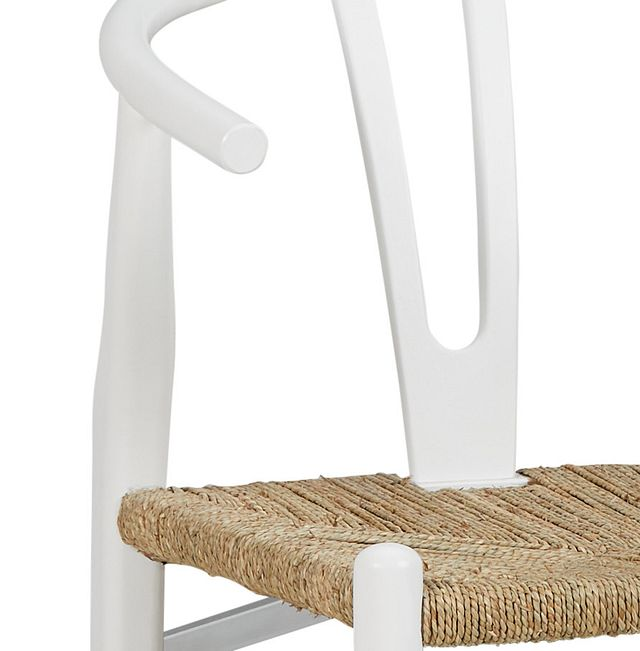 Moya White Wood Side Chair