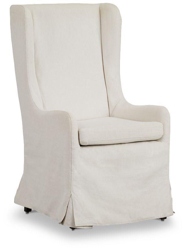 Savannah Beige Uph Skirted Arm Chair (1)