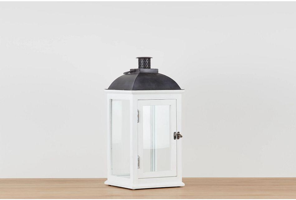 Greensville White Large Lantern,  (0)